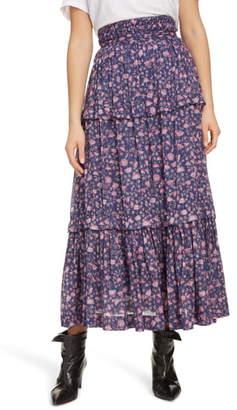 Etoile Isabel Marant Lineka Floral Midi Skirt