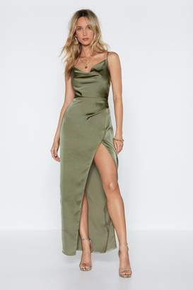 Nasty Gal Cowl Play Satin Dress