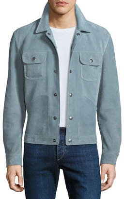 Tom Ford Cashmere-Trim Suede Western Jacket