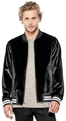 GUESS Men's Long Sleeve Metallic Velvet Jacket