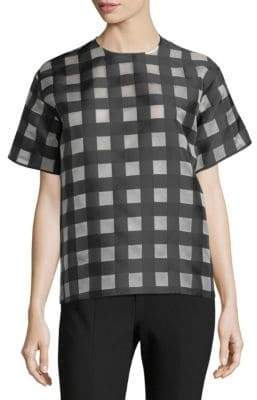 MSGM Check Short-Sleeve Sweater