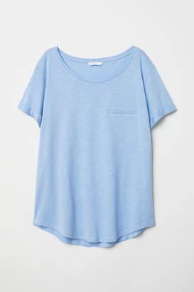 H&M Slub Jersey T-shirt - Blue