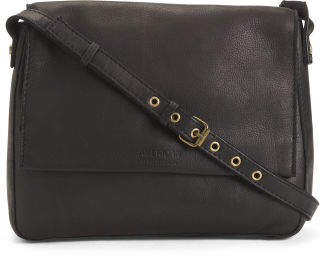 Leather Toledo Flap Messenger Crossbody