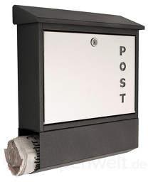 Mit Schriftzug Post - Briefkasten York