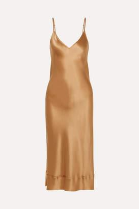 Lee Mathews - Rose Silk-satin Midi Dress - Gold