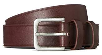 FIND Men's Belt in Leather Effect with Metal Buckle,Medium
