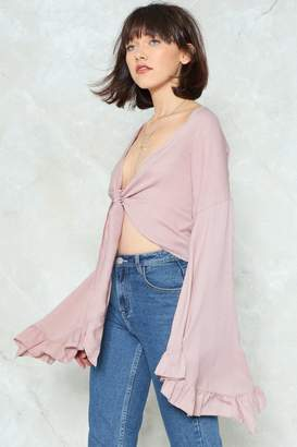 Nasty Gal The Frill of the Chase Bell Sleeve Top
