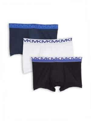 Michael Kors Three-Pack Logo Stretch Trunks