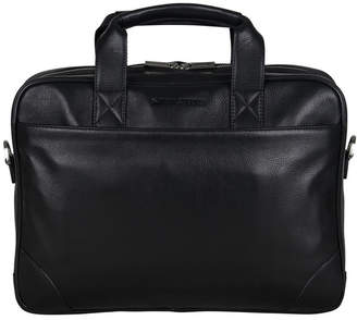 "Ben Sherman Karino Leather Double Compartment 15"" Computer Case Bag"