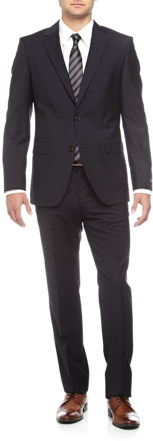 HUGO BOSS Grand Central Two-Piece Suit, Solid Navy
