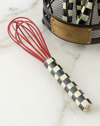 Mackenzie Childs Courtly Check Small Red Whisk