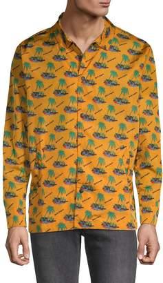 Palm Angels Palm Island-Print Coach Jacket