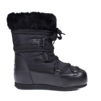 Chanel Cloth snow boots