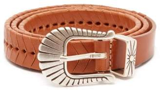 Isabel Marant Jigoo Braided Leather Belt - Womens - Tan
