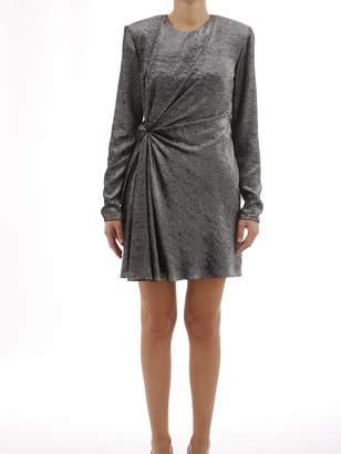 Saint Laurent Silver Dress Draped