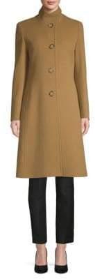 Cinzia Rocca Stand Collar Wool & Cashmere Coat