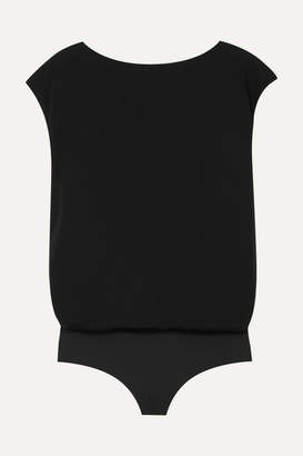 Wolford Reversible Stretch-crepe Bodysuit - Black