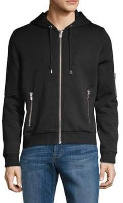 The Kooples Classic Zip-Front Hooded Sweater