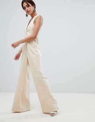 Asos Design DESIGN Tailored Jumpsuit with Wide Leg