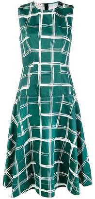 Marni check A-line dress