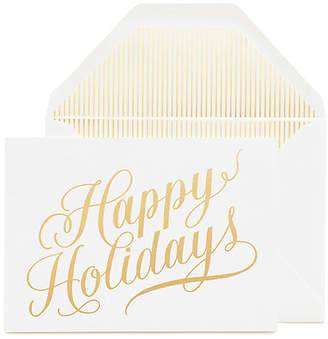 One Kings Lane Set of 6 Happy Holidays Greeting Cards