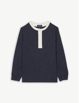 Ralph Lauren Henley contrast cotton T-shirt 5-7 years