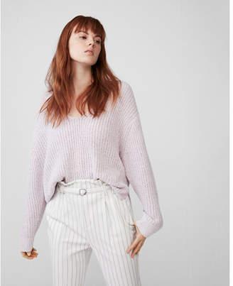 Express petite oversized shaker v-neck sweater