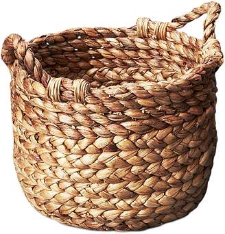 Inartisan Handmade Homewares Textural Waterhyacinth Basket with Handles, Small