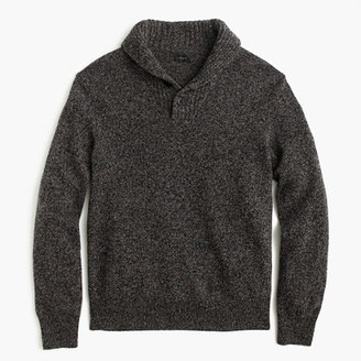 Marled lambswool shawl-collar sweater $75 thestylecure.com
