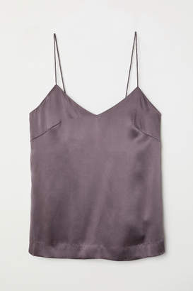 H&M Silk Camisole Top - Purple