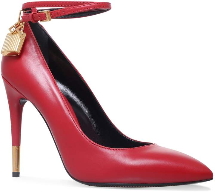 TOM FORD Padlock Pumps 105, Red, IT 40