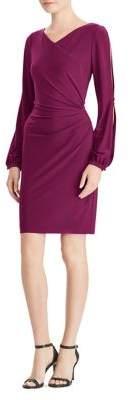 Lauren Ralph Lauren Surplice Jersey Bodycon Dress