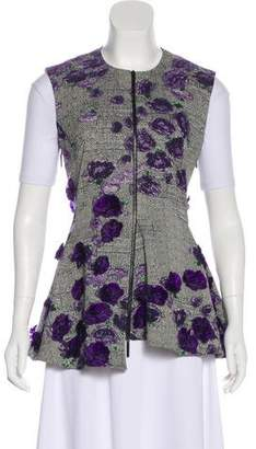 Jason Wu Embroidered Zip-Up Vest
