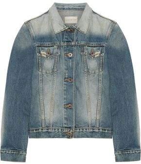 Simon Miller Keyes Cropped Distressed Denim Jacket