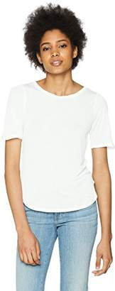 Three Dots Women's Tencel Puff Short Loose tee