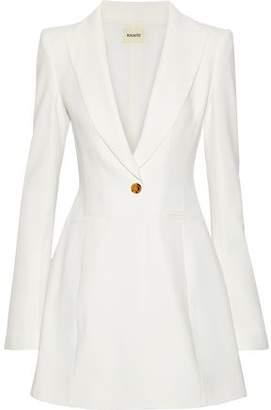 KHAITE Natasha Crepe Mini Tuxedo Dress