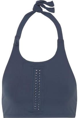 Eres Overall Halterneck Bikini Top - Storm blue