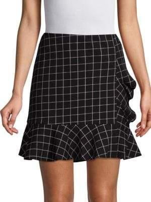 Supply & Demand Mac Windowpane Ruffle Skirt