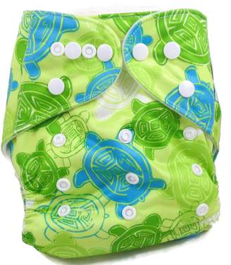 Piddly-Winx 'Finding Murtle' One Size Fits All Bamboo Cloth Diaper with Insert