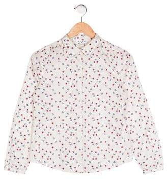 Brooks Brothers Girls' Floral Print Top w/ Tags