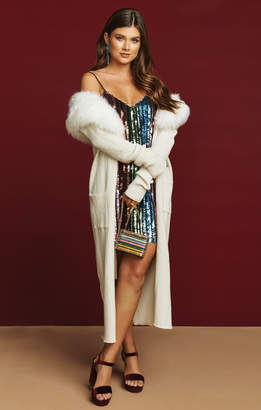 Show Me Your Mumu Lombardi Long Cardi ~ Snowy White Knit