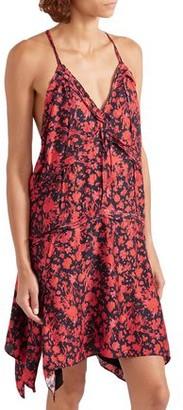 IRO Soul Floral-print Twill Mini Dress