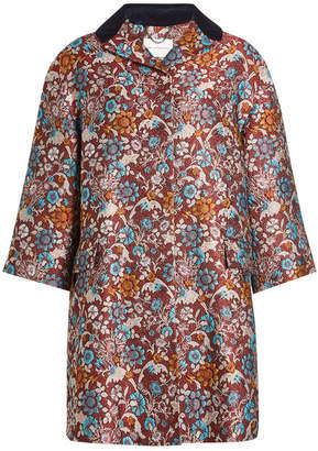 Mary Katrantzou Embroidered Coat with Silk