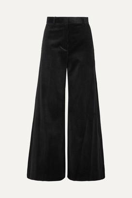 Bella Freud Bianca Cotton-corduroy Wide-leg Pants - Black