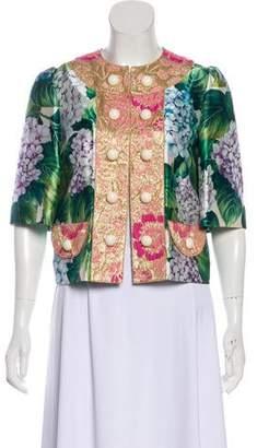 Dolce & Gabbana 2017 Hydrangea Print Silk Jacket w/ Tags
