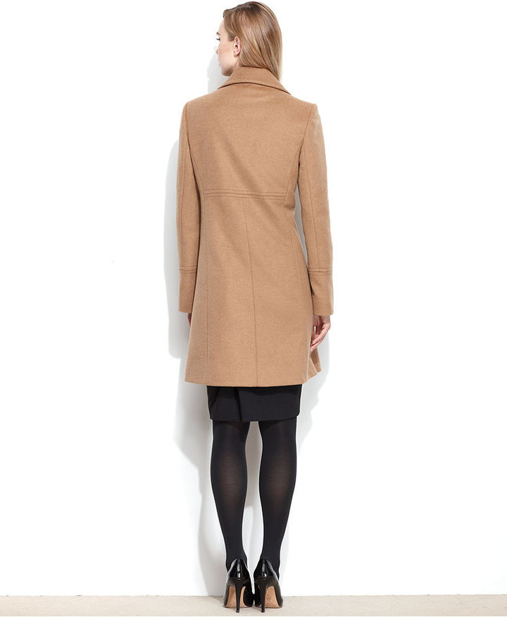 Larry Levine Wool-Blend Classic Walker Coat
