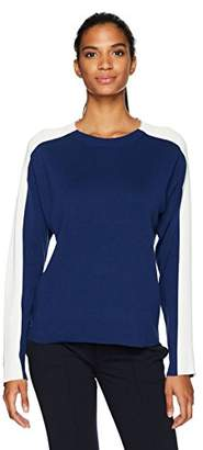 Lacoste Women's Colorblock Double Face Jacquard Cotton/Wool Sweater