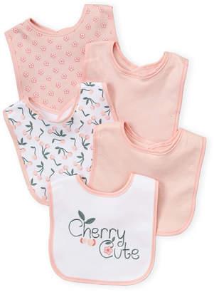 Baby Essentials Kyle & Deena (Newborn/Infant Girls) 5-Pack Cherry Bib