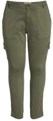 Caslon R) Stretch Twill Utility Pants (Plus Size)