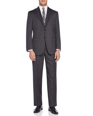 Hickey Freeman Two-Piece Charcoal Grey Suit